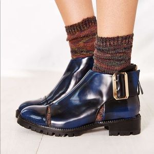 Jeffrey Campbell Navy Cut Out Ankle Boots